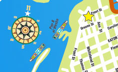 route map of key west duck tours