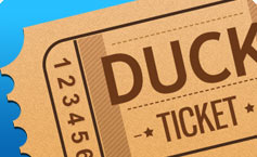 key west ducks ticket illustration