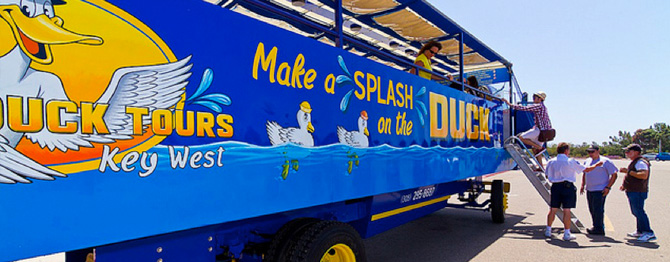Key West Tour Schedule for Southernmost Ducks