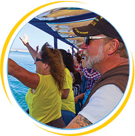 Groups Events in Key West enjoying the duck tour